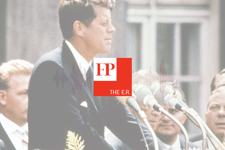 In this episode of the E.R., we dive into the JFK files and what's still to be learned. (APF/Getty Images)