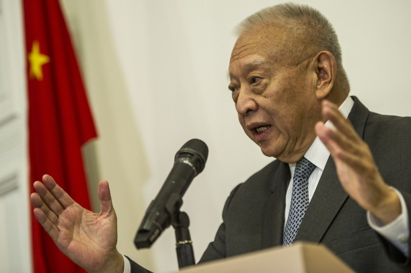 Former Hong Kong Chief Executive Tung Chee-hwa speaks during a press conference in Hong Kong on September 3, 2014. Tung supported the standing committee of China's rubber-stamp parliament who on August 31 ruled out public nominations for Hong Kong's next chief executive in 2017, with candidates for the city's top job to be approved instead by a Beijing-backed committee. (Xaume Olleros/AFP/Getty Images)