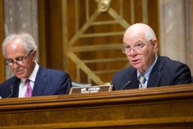Sen. Ben Cardin (D-Md.), ranking member of the Senate Foreign Relations Committee during a hearing on Capitol Hill, Oct. 28, 2015. (Allison Shelley/Getty Images)