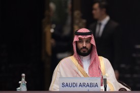 Then-Deputy Crown Prince Mohammed bin Salman at the G-20 opening ceremony in Hangzhou, China on Sep. 4, 2016. (Nicolas Asfouri/Pool/Getty Images)