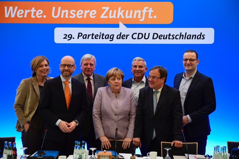 German chancellor Angela Merkel at a CDU party conference in December 2016. (TOBIAS SCHWARZ/AFP/Getty Images)