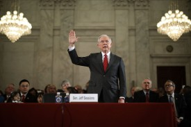 Now-Attorney General Jeff Sessions during his confirmation hearing on Jan. 10, in Washington, D.C. (Chip Somodevilla/Getty Images)
