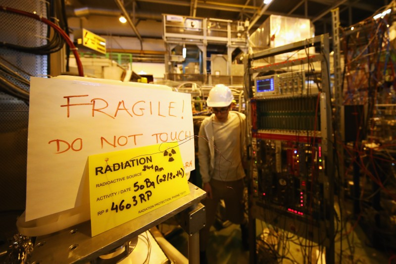 A behind the scenes tour at CERN, the world's largest particle physics laboratory on April 19, 2017 in Meyrin, Switzerland. (Dean Mouhtaropoulos/Getty Images)