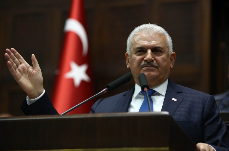 Turkish Prime Minister Binali Yildirim in Ankara on Oct. 31. (Adem Altan/AFP/Getty Images)