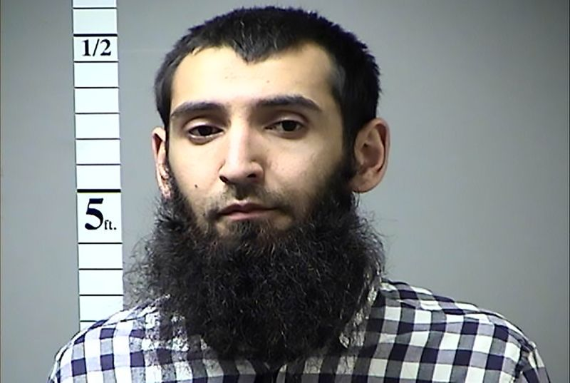 Sayfullo Saipov, the suspected driver who killed eight people in New York on Oct. 31. (St. Charles County Dept. of Corr/AFP/Getty Images)