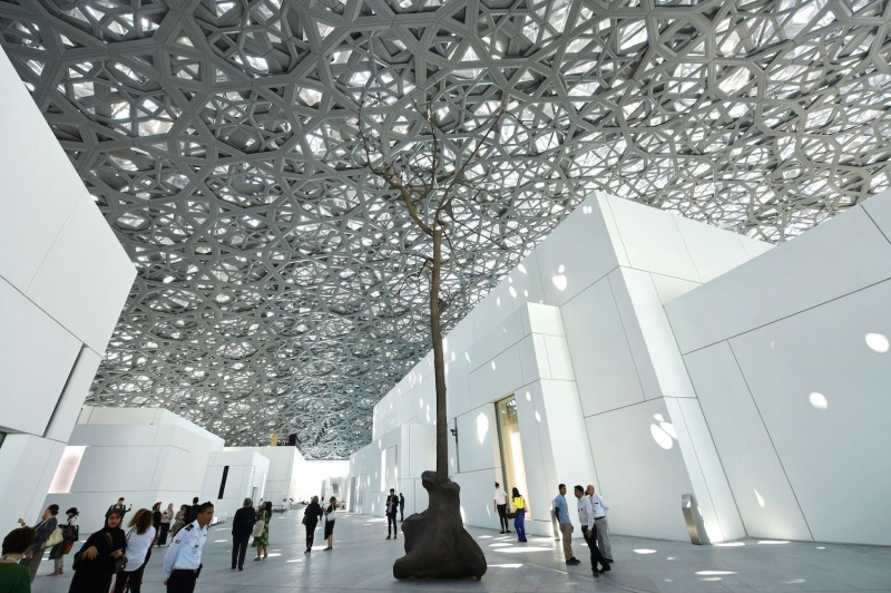 The interior of the Louvre Abu Dhabi on Nov. 7. (Giuseppe Cacace/AFP/Getty Images)