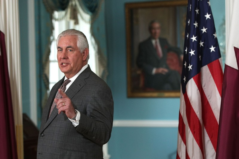 Secretary of State Rex Tillerson at the State Department on November 20, 2017. (Alex Wong/Getty Images)