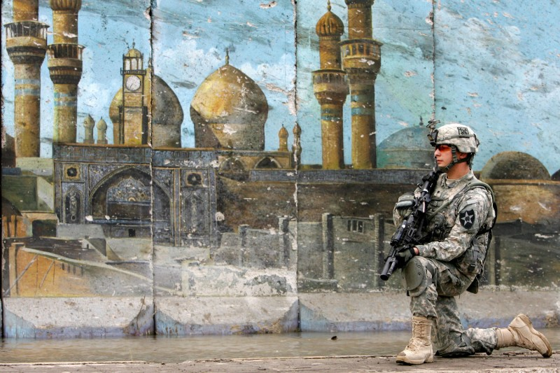 A U.S. soldier in Baghdad, Iraq on Oct. 25, 2009. (Muhannad Fala'ah/Getty Images)