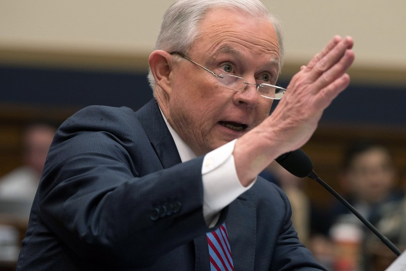 U.S. Attorney General Jeff Sessions testifies during a hearing before the House Judiciary Committee Nov. 14 in Washington, D.C. (Alex Wong/Getty Images)