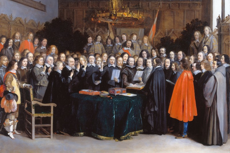 The Ratification of the Treaty of Münster, 15 May 1648. (Rijksmuseum Amsterdam via Wikimedia Commons)