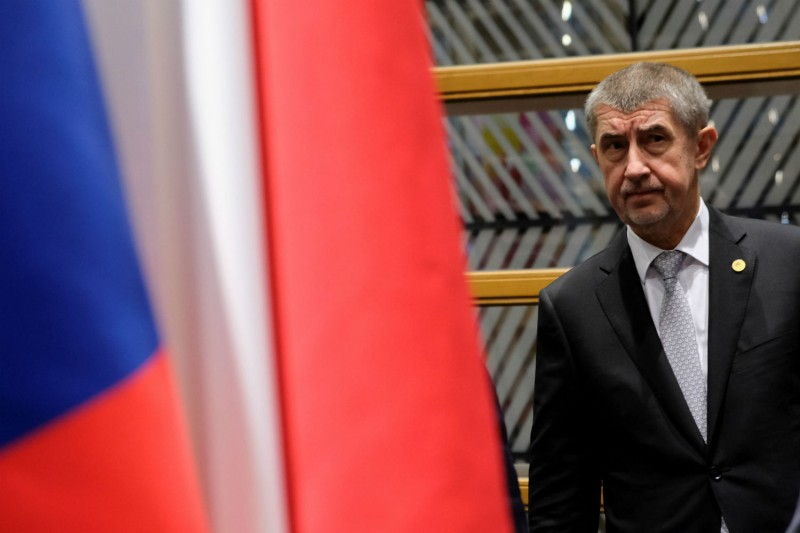 Czech Prime Minister Andrej Babis attends a Visegrad group meeting in Brussels on Dec. 14, 2017. (OLIVIER HOSLET/AFP/Getty Images)