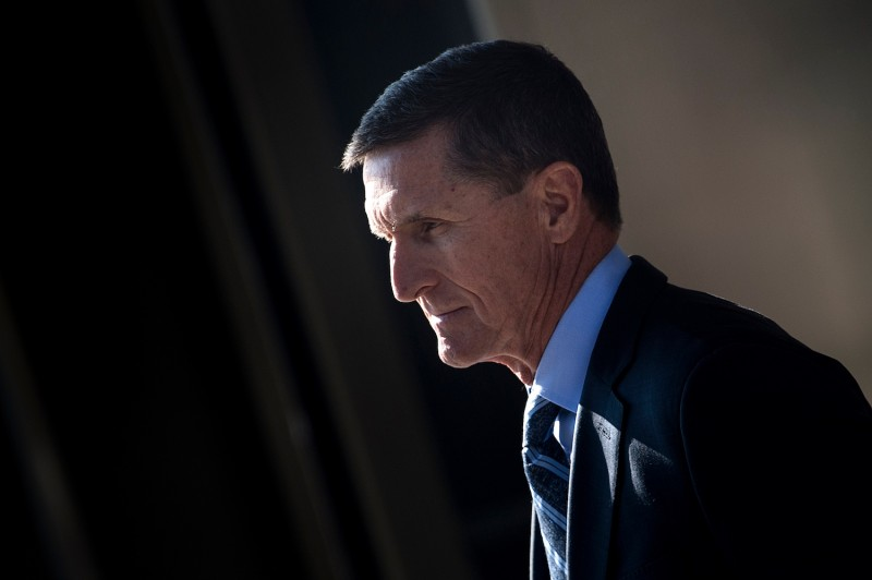 Gen. Michael Flynn, former national security adviser to U.S. President Donald Trump, leaves Federal Court on Dec. 1, in Washington, DC.(Brendan Smialowksi/AFP/Getty Images)