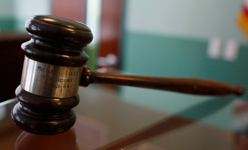 A judge's gavel rests on top of a desk in the courtroom of the Black Police Precinct and Courthouse Museum February 3, 2009 in Miami, Florida. (Joe Raedle/Getty Images)