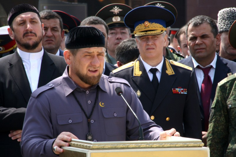 Chechen leader Ramzan Kadyrov speaks in Grozny, Chechnya on April  16, 2012. (Stringer/AFP/Getty Images)