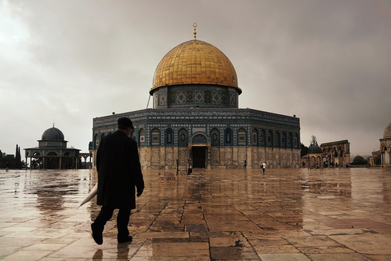 The Dome of the Rock at the Al-Aqsa mosque compound in Jerusalem on November 27, 2014. (Spencer Platt/Getty Images)