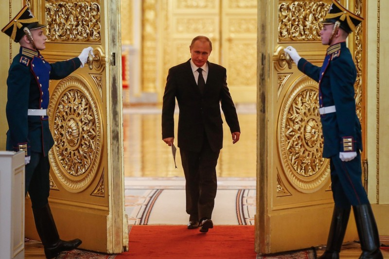Russian President Vladimir Putin at the Kremlin in Moscow on March 17, 2015. (Sergei Ilnitsky/AFP/Getty Images)