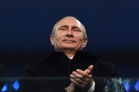 Russian President Vladimir Putin during the opening ceremony of the 2014 Sochi Winter Olympics in Russia.  (Pascal Le Segretain/Getty Images)