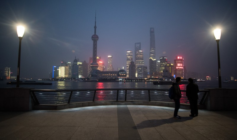 The Shanghai skyline on Jan. 18, 2016. (Johannes Eisele/AFP/Getty Images)