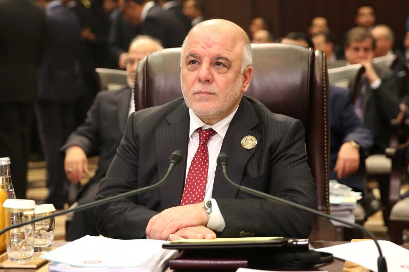 Iraqi Prime Minister Haider al-Abadi attends an Arab League summit in Jordan on March 29. (Khalil Mazraawi/AFP/Getty Images)