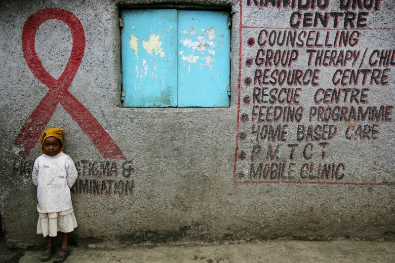 The Kenwa Center for HIV positive women in Nairobi, Kenya in December, 2006. (Brent Stirton/Getty Images)