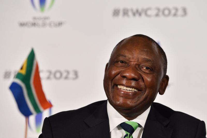 Cyril Ramaphosa in a press conference in London on September 25, 2017. (Glyn Kirk/AFP/Getty Images)