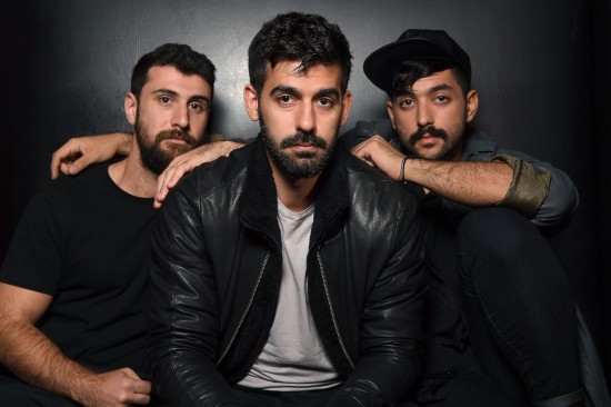 Haig Papazian, Carl Gerges, and Hamed Sinno, members of the band Mashrou' Leila, in New York on Nov. 1. After their concert in Cairo in September, Egypt intensified a crackdown on its LGBT community. (Angela Weiss/AFP/Getty Images)