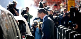 Michael Flynn, former national security advisor to President Donald Trump, leaves the Prettyman Federal Courthouse  in Washington on Dec. 1. (Chip Somodevilla/Getty Images)
