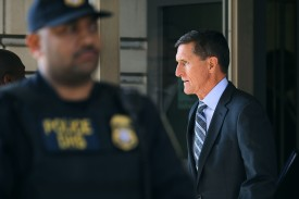 Michael Flynn after his plea hearing at the Prettyman Federal Courthouse on December 1, 2017 in Washington, DC. (Chip Somodevilla/Getty Images)