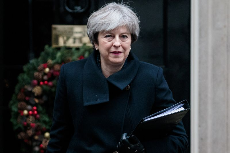 British Prime Minister Theresa May leaves Number 10 Downing Street on December 11, 2017. (Jack Taylor/Getty Images)