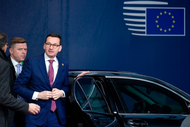 Polish Prime Minister Mateusz Morawiecki in Brussels on December 14, 2017. (JOHN THYS/AFP/Getty Images)