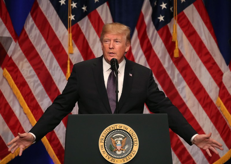 U.S. President Donald Trump delivers a speech on his National Security Strategy on Dec. 18, in Washington, D.C. (Mark Wilson/Getty Images)