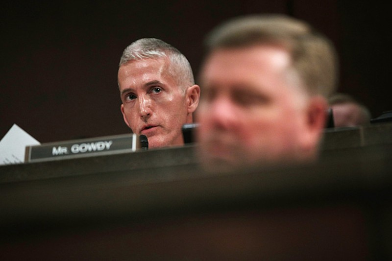 U.S. Trey Gowdy (R-SC) (L) speaks during a hearing before the House Permanent Select Committee on Intelligence on Capitol Hill, May 23, in Washington, DC. ( Alex Wong/Getty Images)