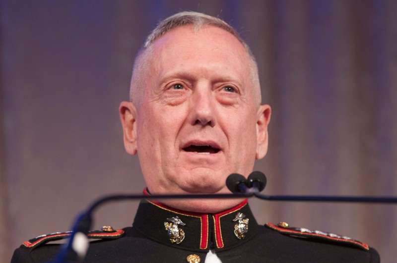 U.S. Joint Forces Command Commander James Mattis speaks during the 2010 Atlantic Council awards dinner at the Ritz Carlton Hotel on April 28, 2010 in Washington, D.C. (Kris Connor/Getty Images)