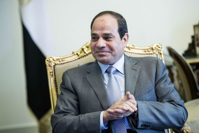 Egyptian President Abdel Fattah al-Sisi waits for a meeting with John Kerry, then the U.S. secretary of state, in Cairo on Sept. 13, 2014. (Brendan Smialowski/AFP/Getty Images)