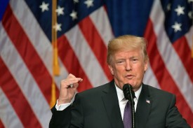 U.S President Donald Trump speaks about his administration's National Security Strategy at the Ronald Reagan Building and International Trade Center in Washington, D.C, Dec. 18. (Mandel Ngan/AFP/Getty Images)