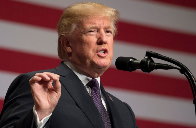 U.S President Donald Trump speaks about his administration's National Security Strategy at the Ronald Reagan Building and International Trade Center in Washington, D.C, Dec. 18.(Saul Loeb/AFP/Getty Images)