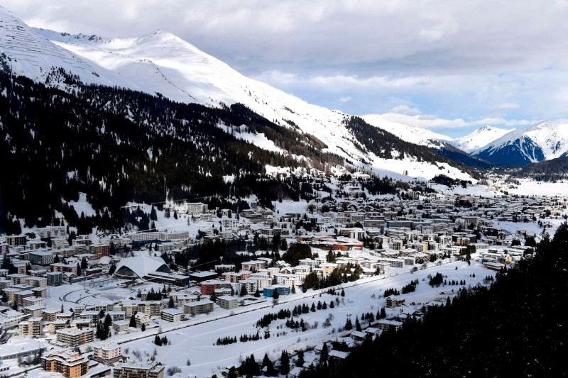 A view of the Davos ski resort during the annual World Economic Forum in Davos, Switzerland, on Jan. 26, 2018. (MIGUEL MEDINA/AFP/Getty Images)