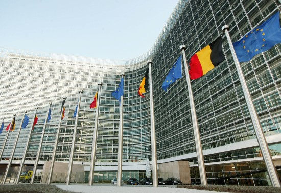 The headquarters of the European Commission in Brussels on October 21, 2004. (Mark Renders/Getty Images)