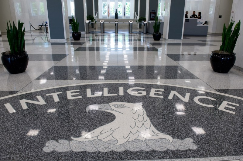 The Central Intelligence Agency (CIA) seal is displayed in the lobby of CIA Headquarters in Langley, Virginia, on August 14, 2008. (Getty/AFP/Saul Loeb)