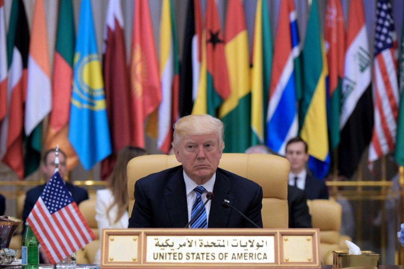 U.S. President Donald Trump in Riyadh, Saudi Arabia on May 21, 2017. (Mandel Ngan/AFP/Getty Images)