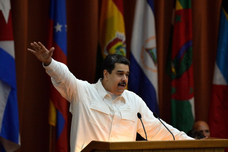 Venezuelan President Nicolás Maduro speaks in Havana, Cuba, on Dec. 14, 2017. (Yamil Lage/AFP/Getty Images)