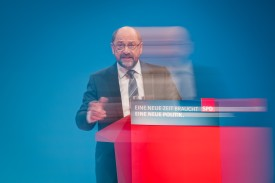 Martin Schulz, head of the German Social Democrats (SPD), at the SPD federal congress on January 21, 2018 in Bonn, Germany. (Lukas Schulze/Getty Images)