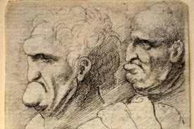 Four Grotesque Male Heads. (Wenzel Hollar/Mulvane Art Museum at Washburn University)