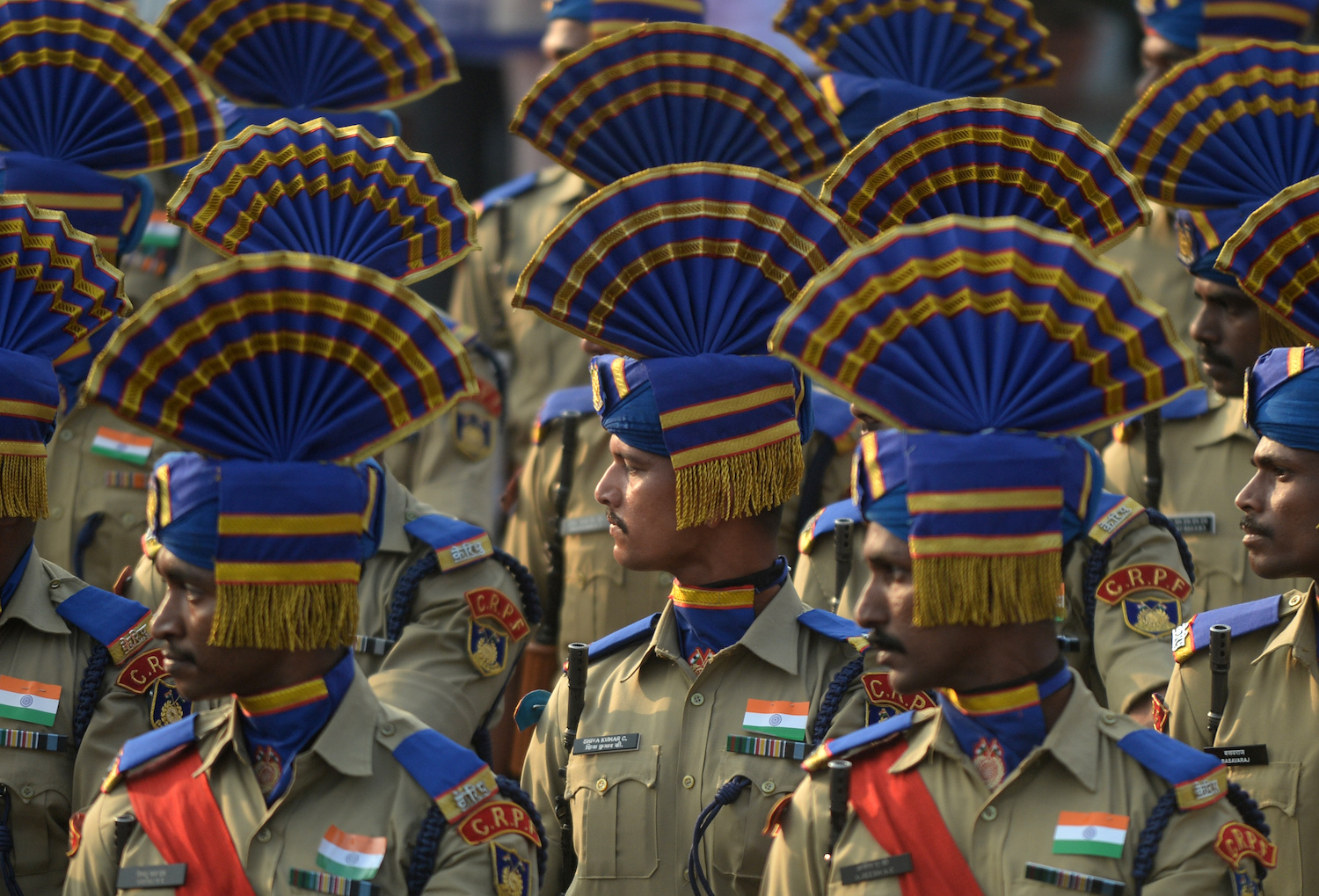 India is marking its 69th Republic Day. / AFP PHOTO / ARUN SANKAR        (Photo credit should read )