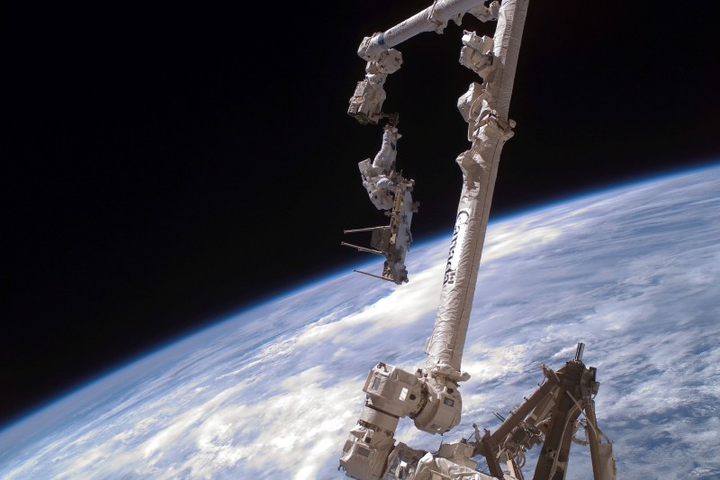 The International Space Station is in orbit around the earth on December 14, 2006. (NASA/Getty)