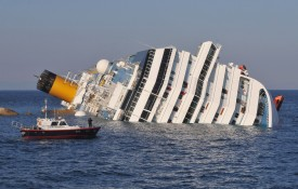 The cruise ship Costa Concordia off the Italian island of Giglio, on Jan. 14, 2012. (Laura Lezza/Getty Images)