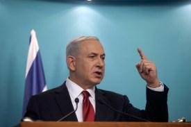 Israeli Prime Minister Benjamin Netanyahu speaks during a press conference in Jerusalem on Nov. 18, 2014. (Lior Mizrahi/Getty Images)