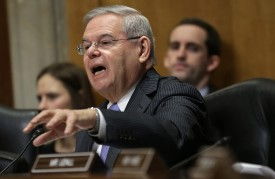U.S. Sen. Bob Menendez (D-N.J.) speaks during a Senate Foreign Relations Committee hearing on Feb. 3, 2015, in Washington, D.C. (Win McNamee/Getty Images)
