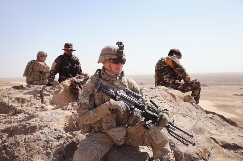 U.S. soldiers near Kandahar, Afghanistan on Feb. 28, 2014. (Scott Olson/Getty Images)
