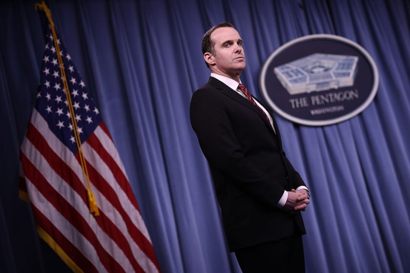 Special Presidential Envoy for the Global Coalition to Counter ISIS Brett McGurk  during a Pentagon briefing in Arlington, VA, on May 19, 2017. (Win McNamee/Getty Images)